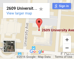 Map of 2609 University Avenue Building